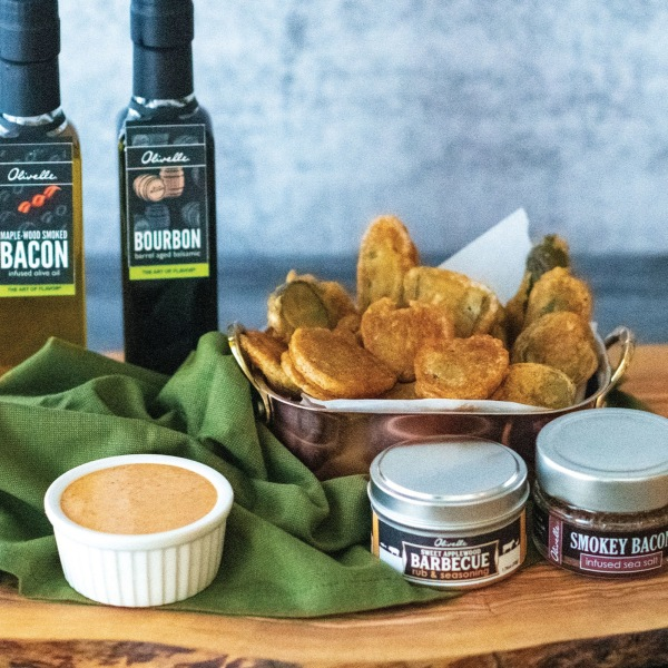 Image of FRIED PICKLES WITH SMOKEHOUSE MAYO