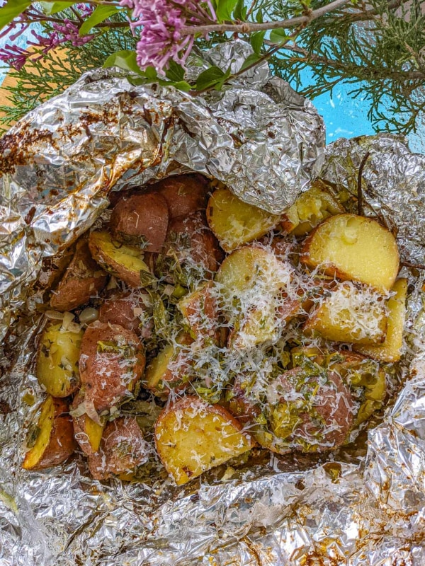 Image ofGrilled Herbed Potato Packets
