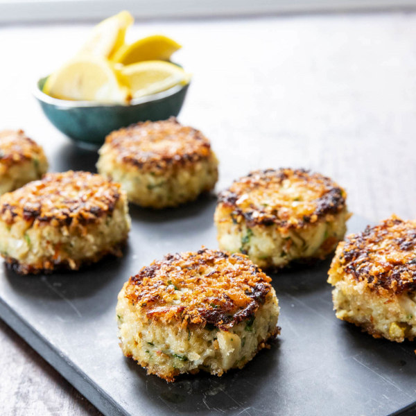 Image of Crab Cakes with Sesame Seeds and Aleppo Pepper