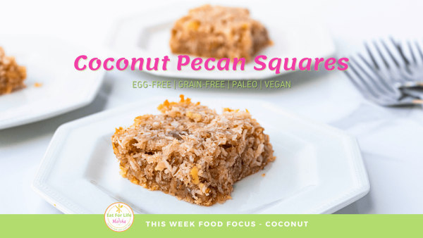 Image of Coconut and Pecan Squares - Coconut Food Focus