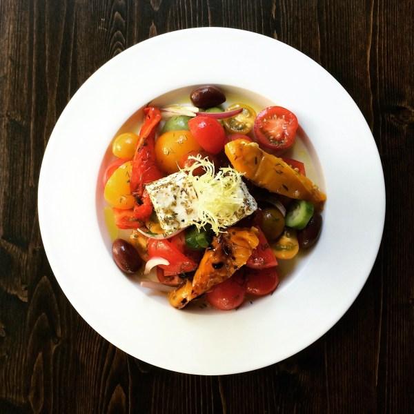 Image of Roasted Pepper & Raw Tomato Salad