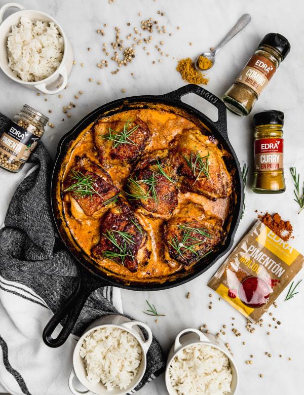 Image of Pollo Cremoso con Curry