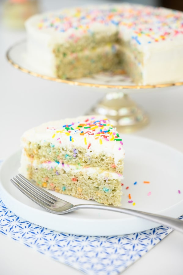 Image of Double Rainbow Cake with Fluffy Buttercream Frosting