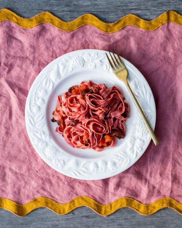 Image of Beetroot and Bush Tomato Pasta