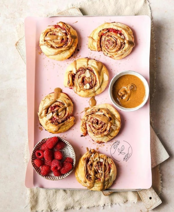 Image ofRaspberry and Almond Butter Swirls