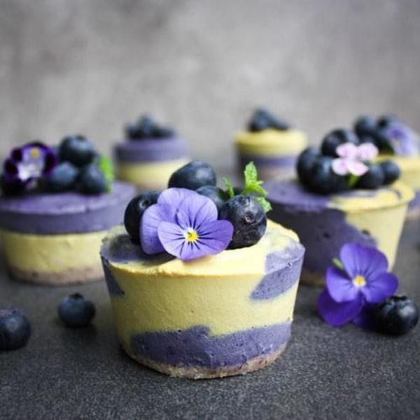 Image ofMaqui mango vegan cheesecakes
