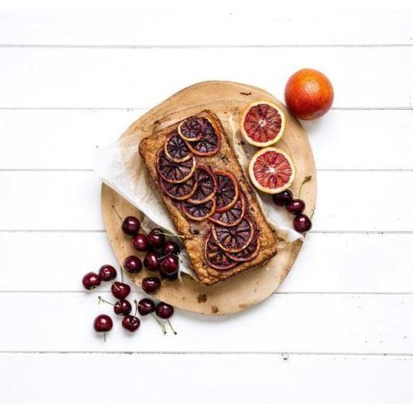 Image ofBlood orange and cherry coconut loaf