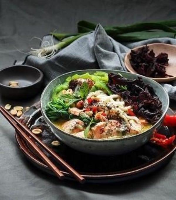 Image ofCoconut Seaweed & Salmon Soup