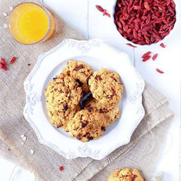 Image ofOrange, Ginger and Goji Breakfast Cookies