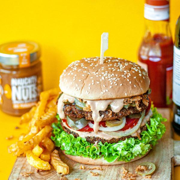 Image of Vegane Linsen-Burger