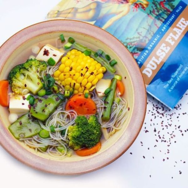 Image ofVegetable soup with dulse flakes