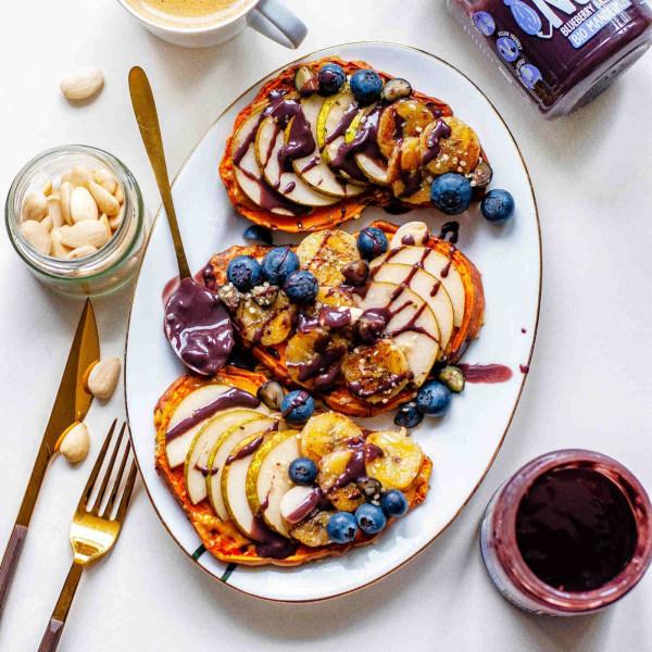 Image of Blueberry Bash auf Süßkartoffel