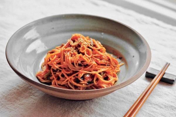 Image of Korean Spicy Noodles Bibim Guksu