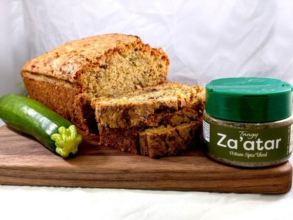 Image ofSavory Walnut Za'atar Zucchini Bread