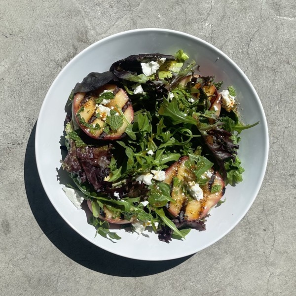 Image of Grilled Peach Salad with Mint and Feta