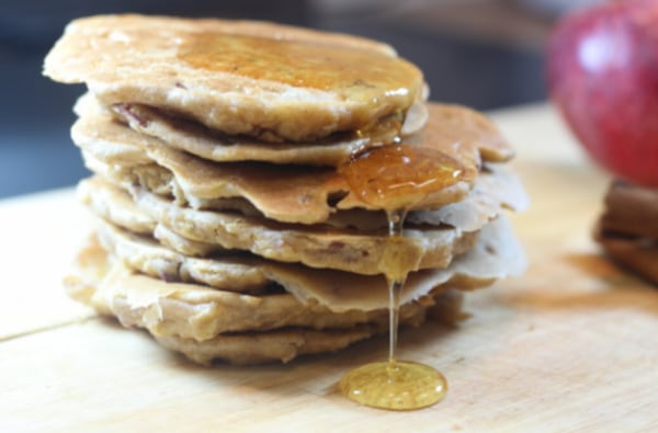 Image ofGluten & Dairy Free Oaty Apple & Cinnamon Pancakes