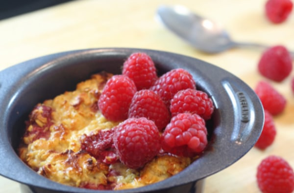 Image ofGluten & Dairy Free Baked Oats with Raspberries