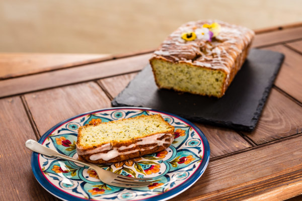 Image ofGluten & Dairy Free Courgette, Lemon & Poppy Seed Loaf Cake