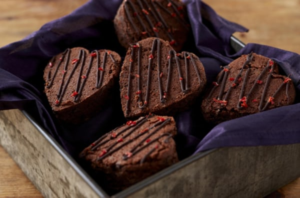 Image ofGluten & Dairy Free Chilli Chocolate Brownie Hearts