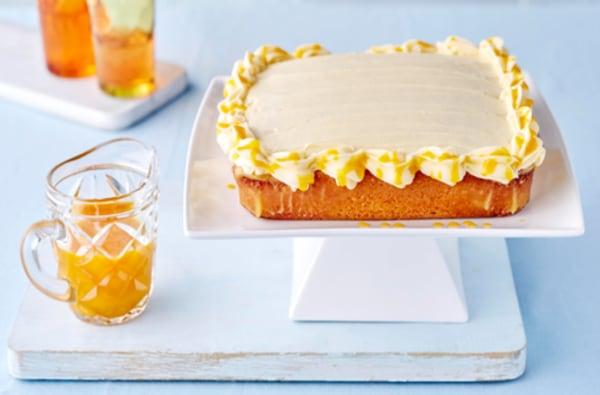 Image ofGluten Free Vanilla and Passion Fruit Hokey Pokey Cake