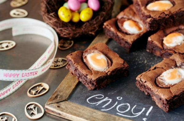 Image ofGluten Free Easter Creme Egg Brownies