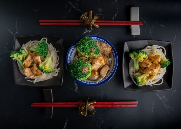 Image of Chicken and Broccoli Rice Noodle Bowls