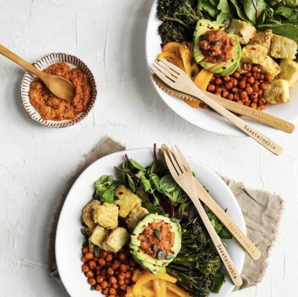 Image ofBuddha Bowls with Pesto Tahini