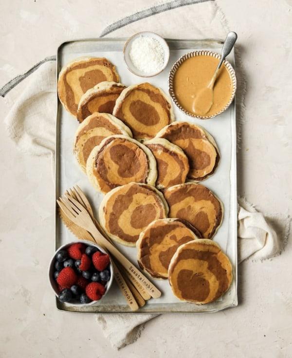 Image ofBanana Marble Pancakes
