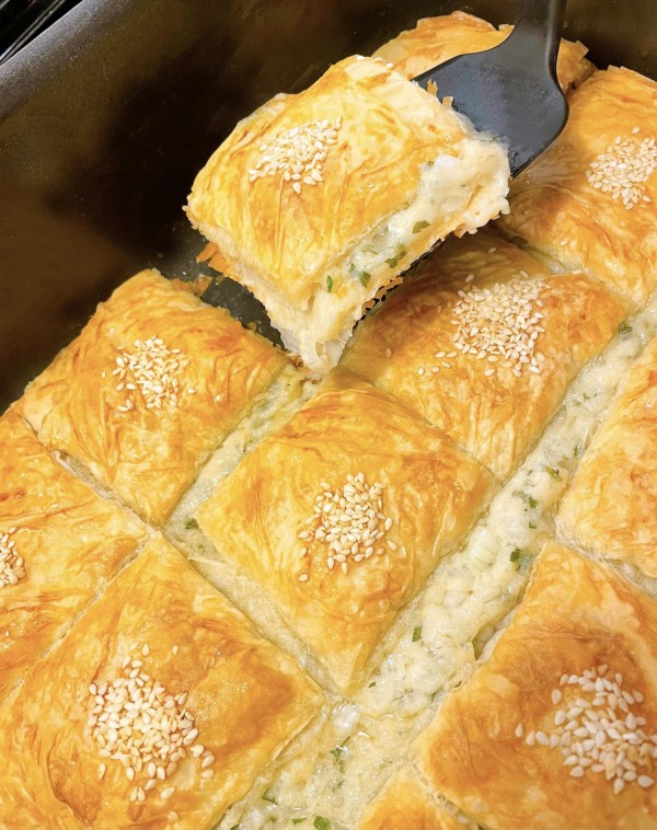 Image of VEGCHEESE & Parsley Phyllo Pie