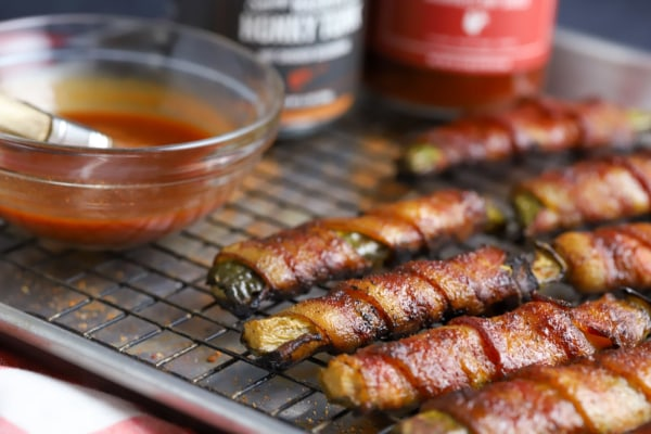 Image of Bacon Wrapped Honky Tonk Pickles
