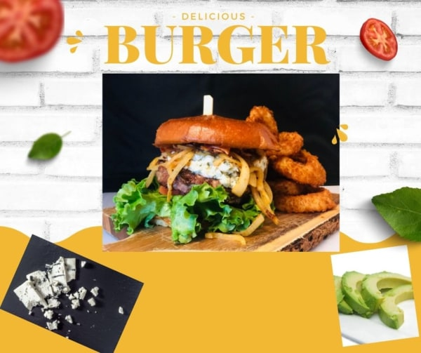 Image ofJuicy Avocado and Blue Cheese Burgers