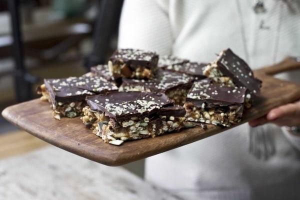 Image ofBarres aux Beurre d'Amandes, Noix et Chocolat Noir