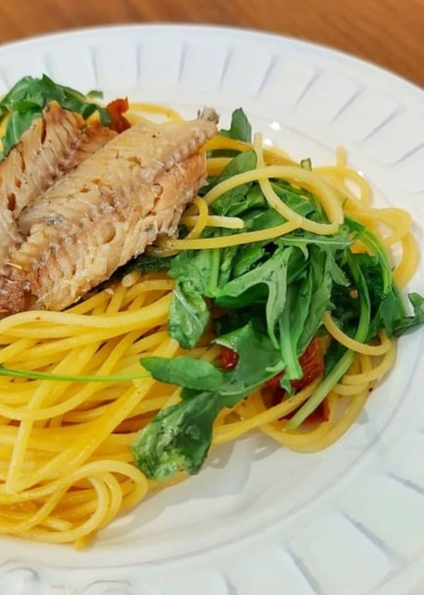 Image ofSuper Easy 5 Ingredient Pasta (w/ Canned Sardines)