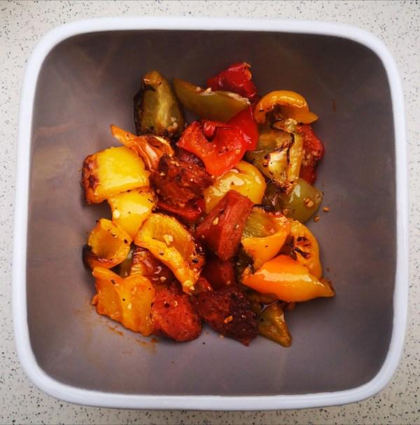 Image of Peppers 4 Ways - Roast Pepper & Chorizo