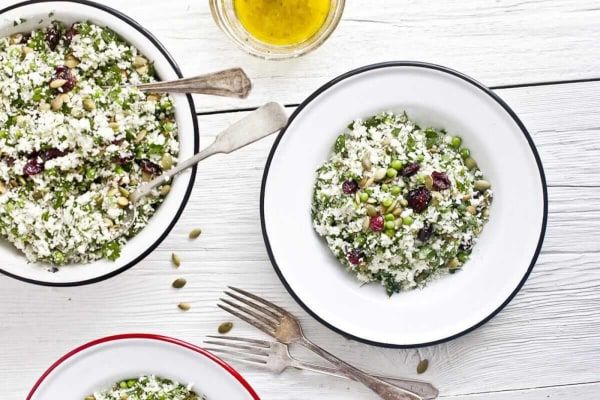 Image of3 Salades en Pot Mason avec Sauce Tahini, Ail et Citron