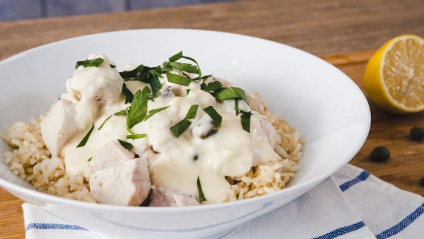 Image of Creamy Chicken Fricassee with Rice