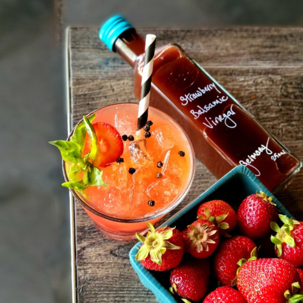 Strawberry Basil Gin & Tonic