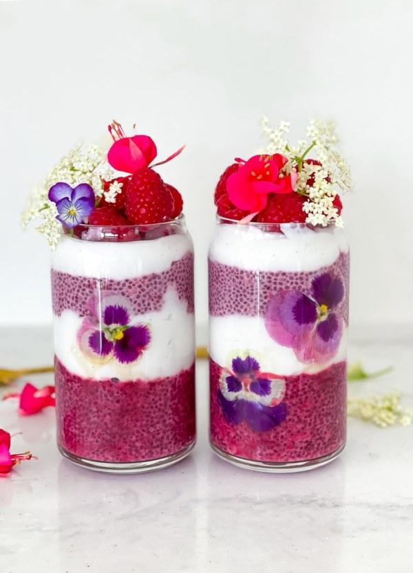 Image ofBeetroot Strawberry Chia Pudding