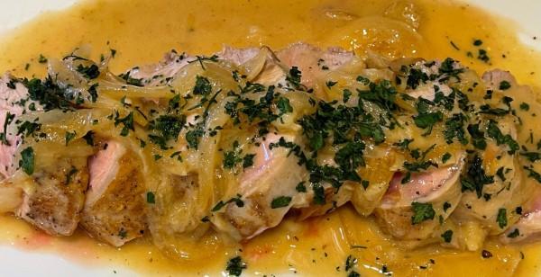 Image ofSmothered Pork Tenderloin Recipe