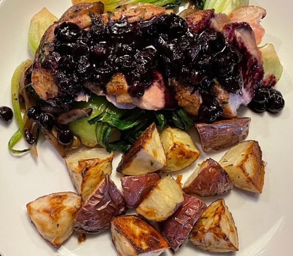 Image of Pan-Seared Duck Breast with Blueberry Sauce