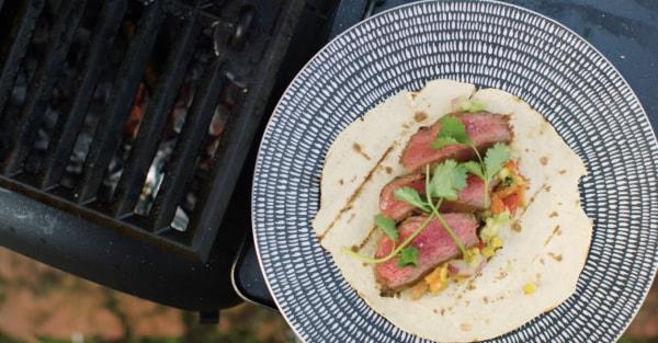 Image ofOzpig Skirt Steak Tacos With Charred Corn Salsa Recipe