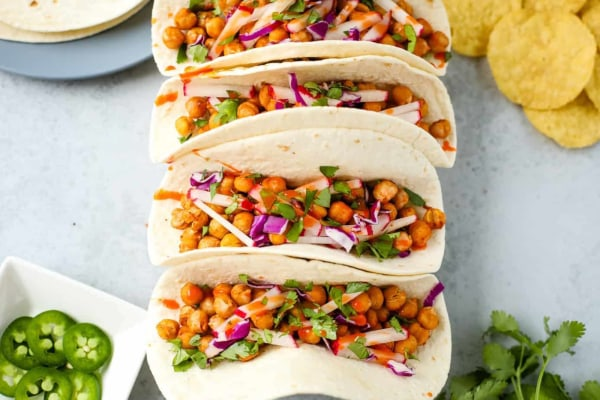 Image of Infused Chickpea Tacos Recipe