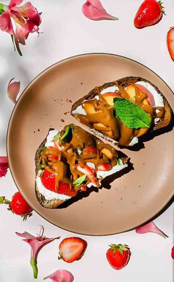Image ofWhipped Ricotta Toast with Fruit and Almond Butter