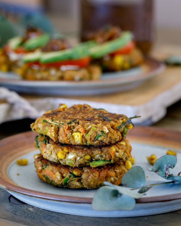 Image ofCarrot, Corn and Cauliflower Fritters