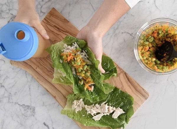 Image de Lettuce Wraps W. Peanut Vinagrette
