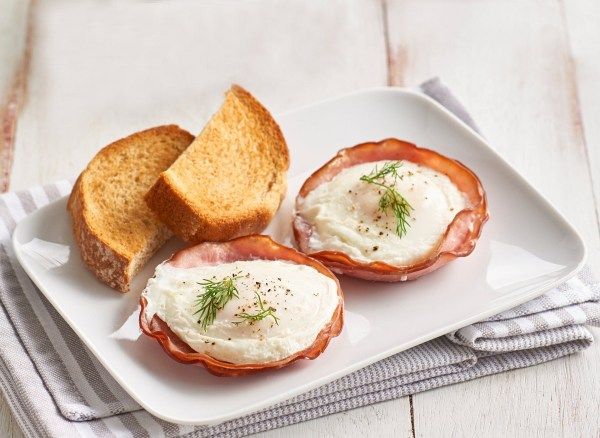 Image of Poached Eggs With Ham
