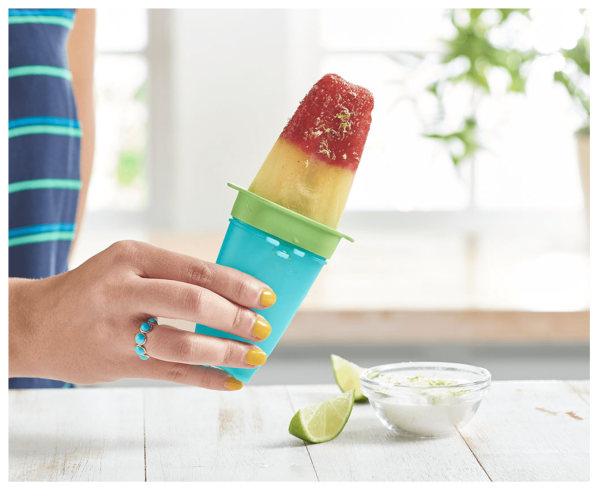 Image de Strawberry Tequila Sunrise Ice Pops