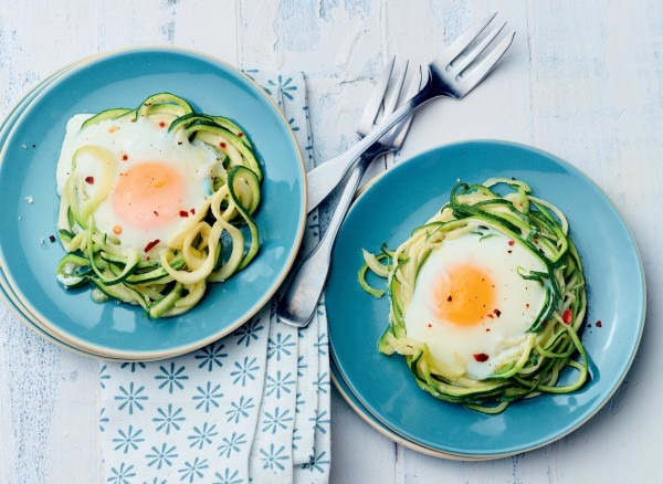 Image of Zoodle Nests with Poached Eggs