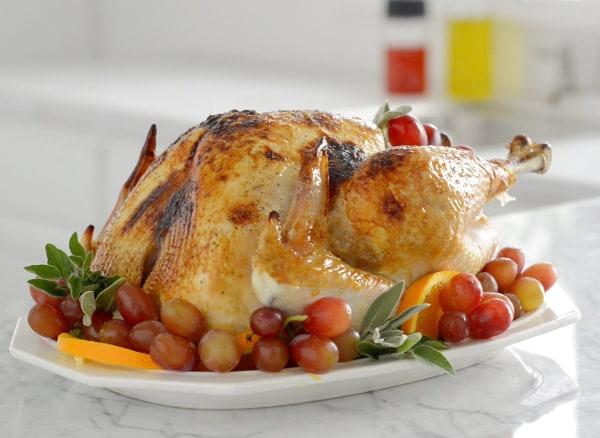 Image of Holiday Roasted Turkey With Orange Sage Butter