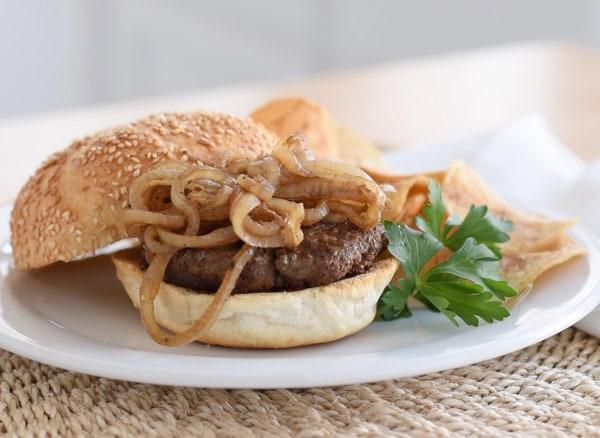 Image of Drunken Burgers With Marsala Onions